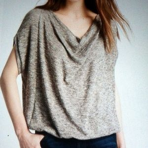 ELLA MOSS Metallic Sparkle Thread Knit Top Small